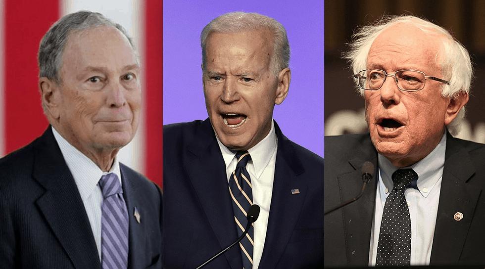 Mike Bloomberg, Joe Biden, Bernie Sanders