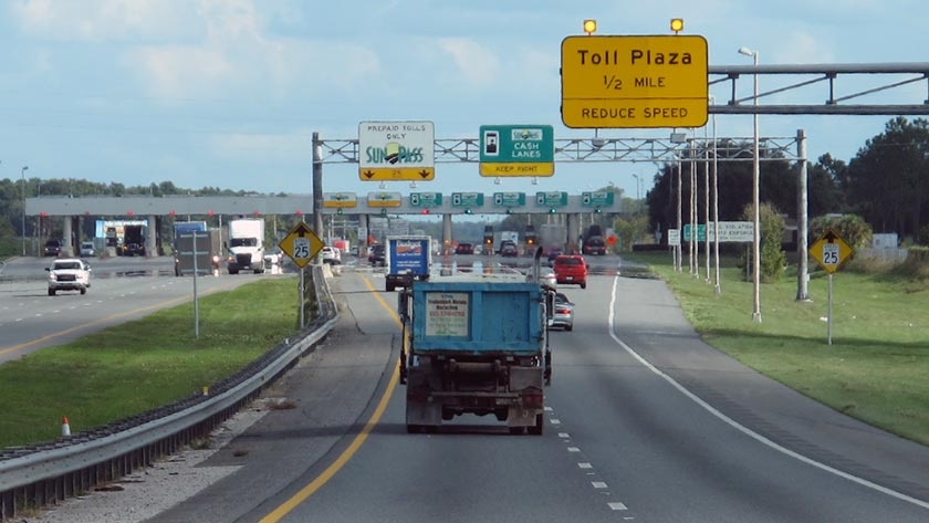 Florida's Turnpike At Leesburg Toll Plaza