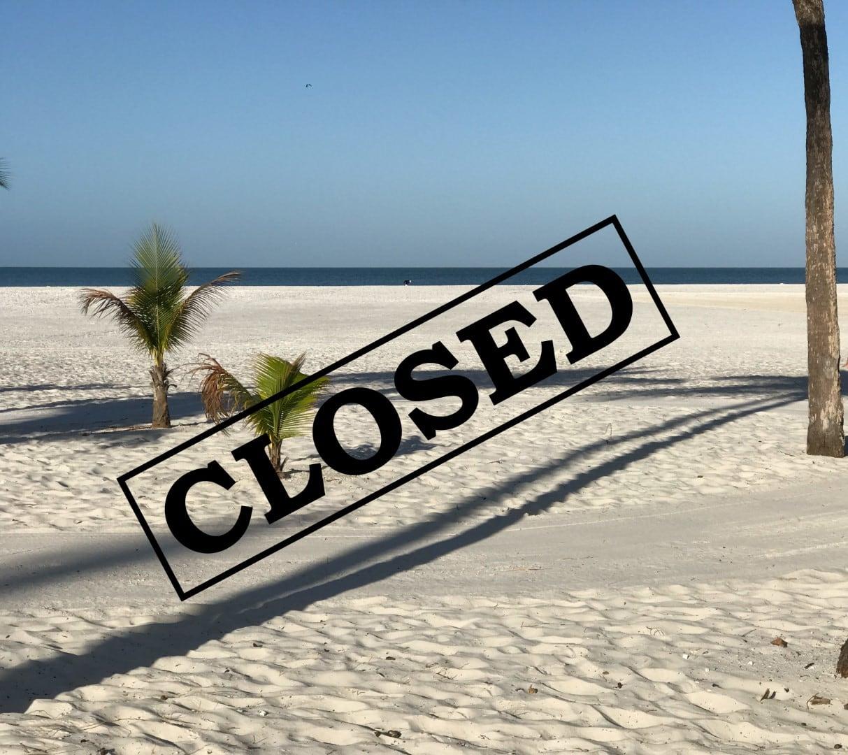 Corona Virus Closes many Beaches