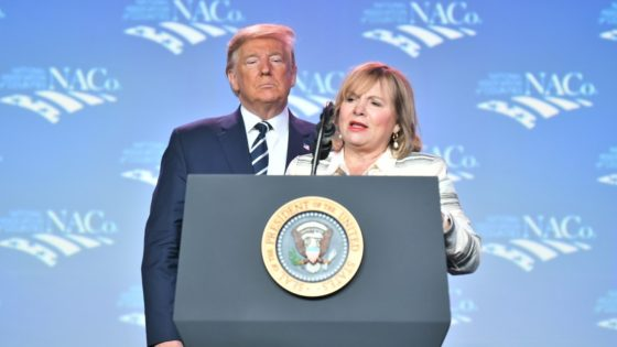 Commissioner Kathryn Starkey and President Donald Trump. Photo courtesy of the National Association of Counties