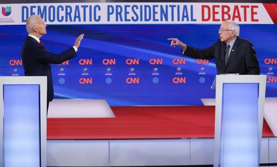 Joe Biden and Bernie Sanders debate