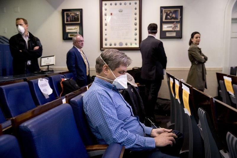 White House Journalist Coronavirus AP