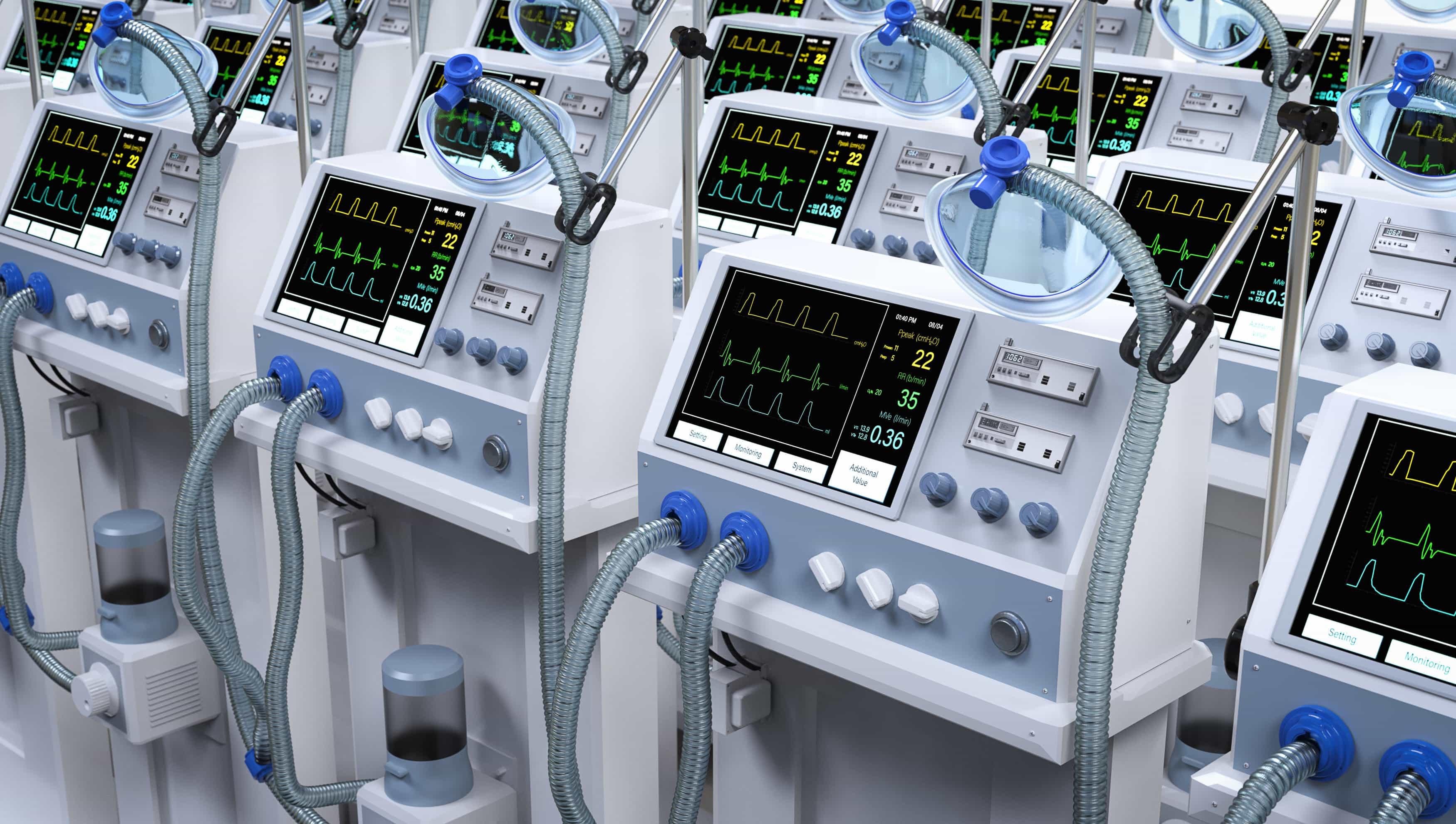Group of ventilator machines