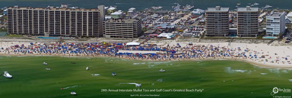 Mullet Toss Arial View