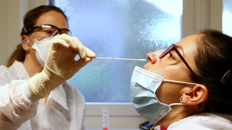 coronavirus nasal swab