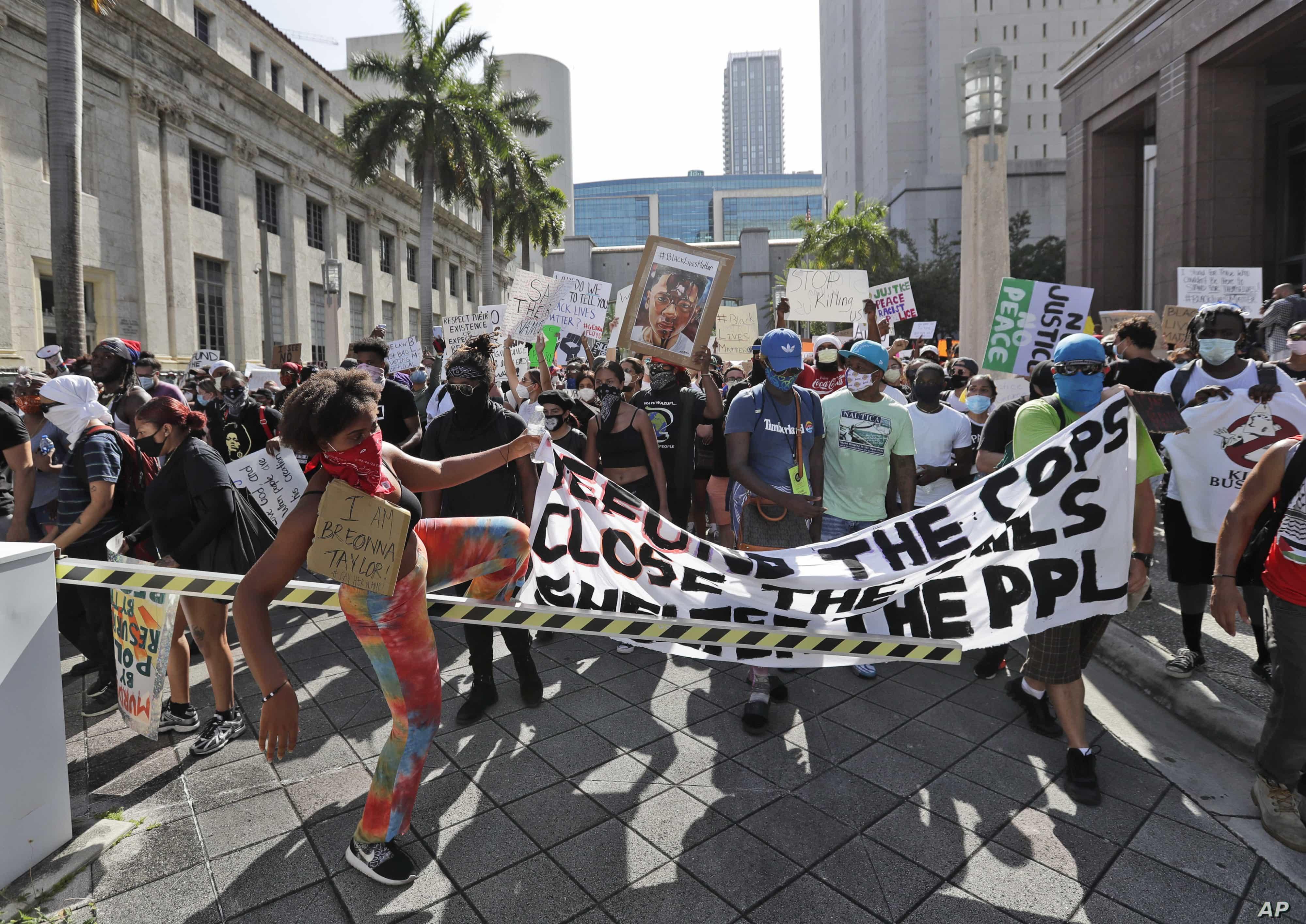America Protests Miami