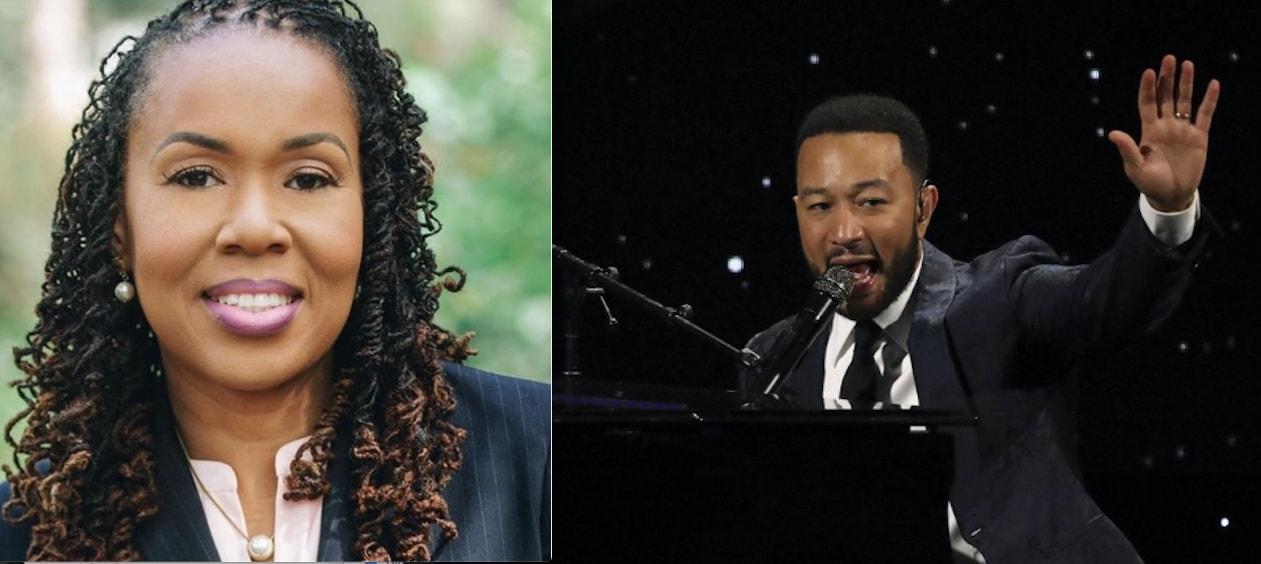 Monique Worrell and John Legend