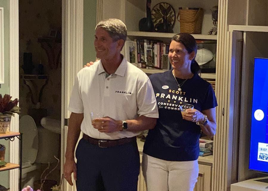 Scott Franklin celebrates his victory over U.S. Rep. Ross Spano in the Republican primary for Florida's 15th Congressional District. Image via the Scott Franklin campaign.