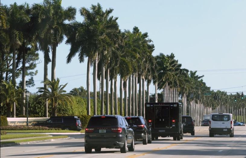 Donald Trump's motorcade