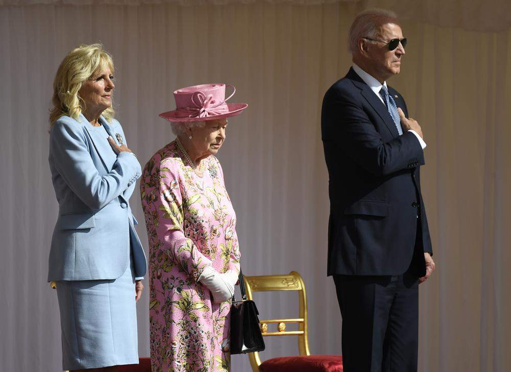 Joe Biden Jill Biden Queen Elizabeth II