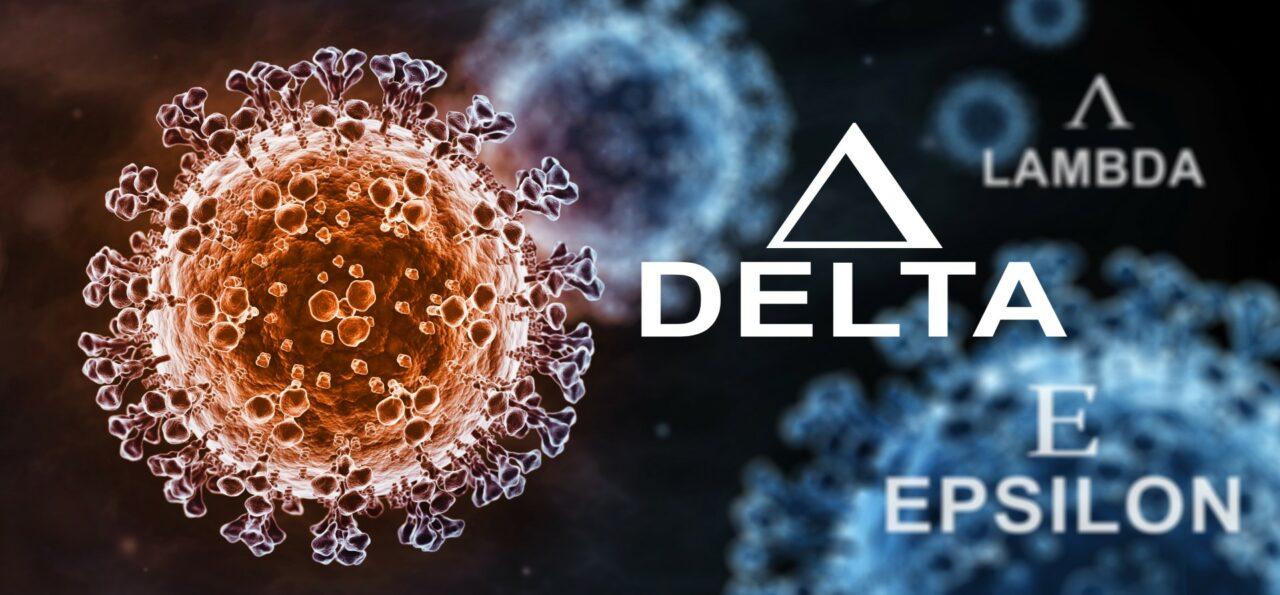 Coronavirus delta epsilon lambda variant covid-19