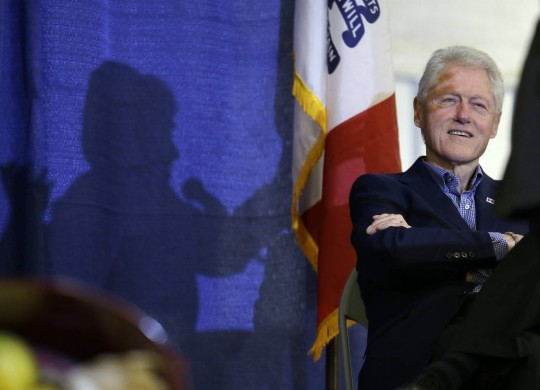 Bill Clinton opening fundraising spree for wife's campaign